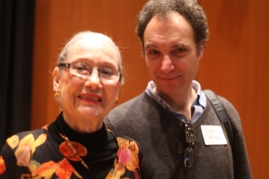 Artist Kay Smith and film maker Steve? at the Pritzker Military Museum
